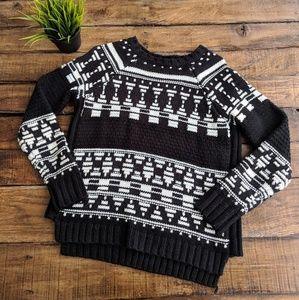 Forever 21 Black & White Fair Isle Sweater